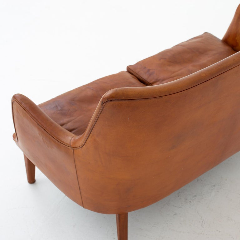 Leather Sofa by Arne Vodder For Sale