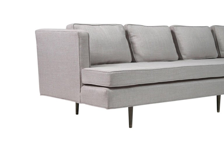 Sofa by Edward Wormley for Dunbar, Model 4906 with Brass Legs For Sale 4