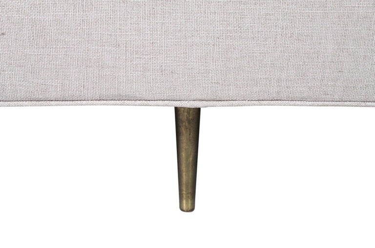 Sofa by Edward Wormley for Dunbar, Model 4906 with Brass Legs For Sale 6
