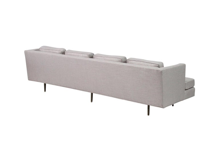 American Sofa by Edward Wormley for Dunbar, Model 4906 with Brass Legs For Sale