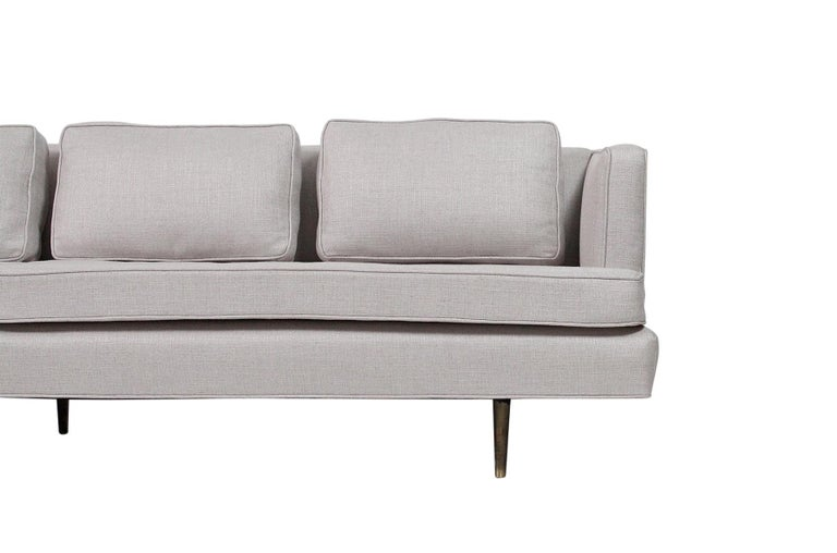 20th Century Sofa by Edward Wormley for Dunbar, Model 4906 with Brass Legs For Sale