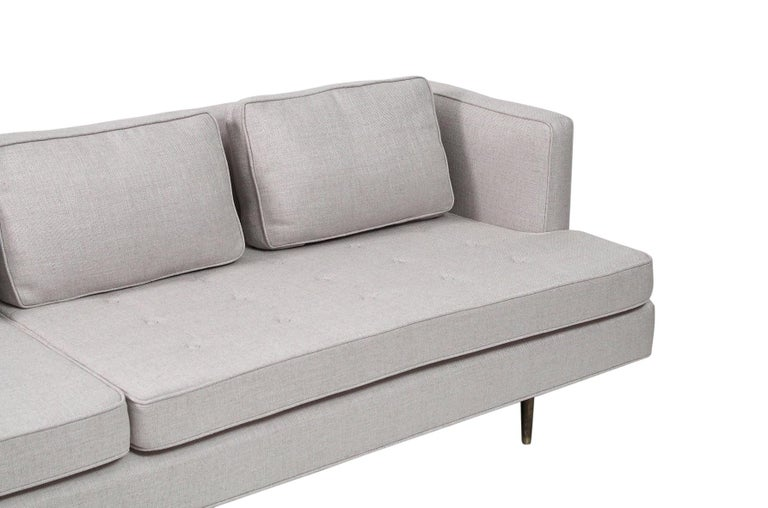Sofa by Edward Wormley for Dunbar, Model 4906 with Brass Legs For Sale 1