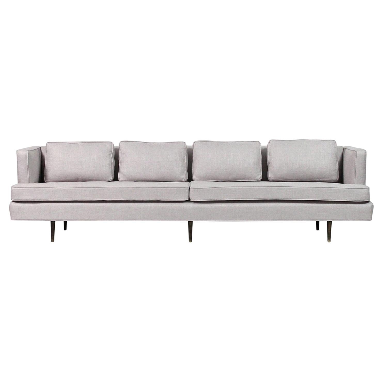 Sofa by Edward Wormley for Dunbar, Model 4906 with Brass Legs