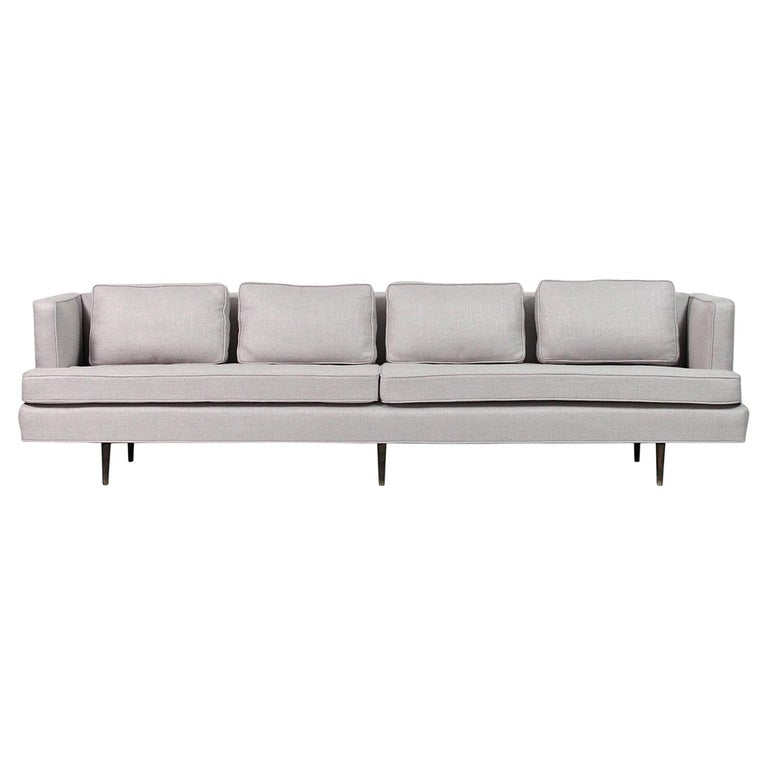 Sofa by Edward Wormley for Dunbar, Model 4906 with Brass Legs For Sale