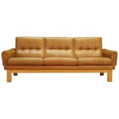 Midcentury Danish Leather Sofa, circa 1950s at 1stdibs