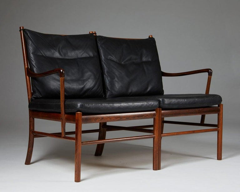 """Sofa """"Colonial"""" Designed by Ole Wanscher for P. Jeppesen, Denmark, 1950s For Sale 4"""