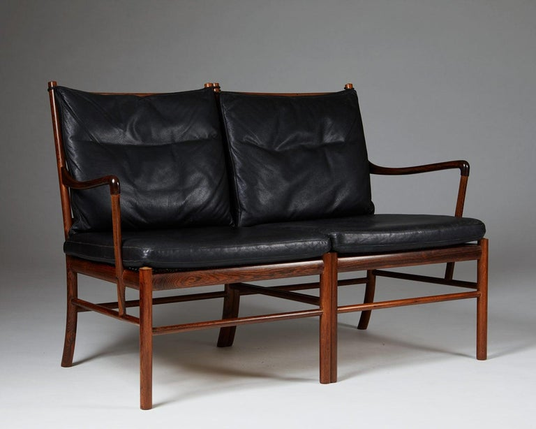 "European Sofa ""Colonial"" Designed by Ole Wanscher for P. Jeppesen, Denmark, 1950s For Sale"