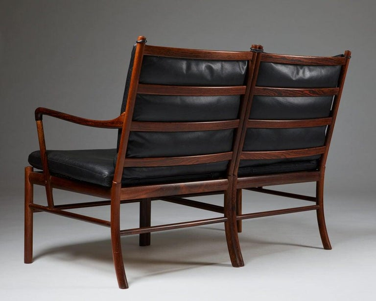 """Sofa """"Colonial"""" Designed by Ole Wanscher for P. Jeppesen, Denmark, 1950s In Good Condition For Sale In Stockholm, SE"""