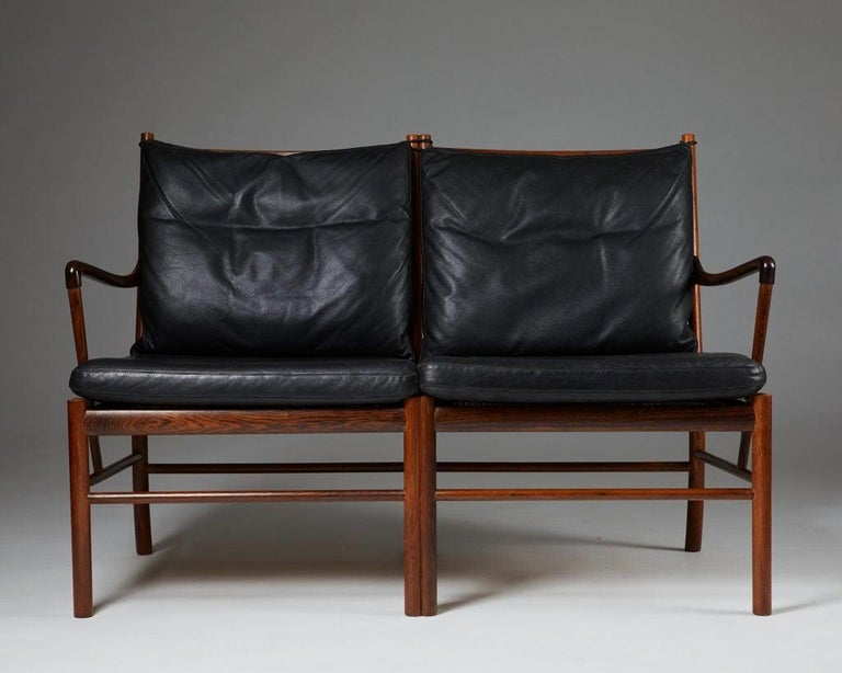 """Mid-20th Century Sofa """"Colonial"""" Designed by Ole Wanscher for P. Jeppesen, Denmark, 1950s For Sale"""