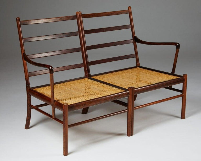 """Sofa """"Colonial"""" Designed by Ole Wanscher for P. Jeppesen, Denmark, 1950s For Sale 2"""