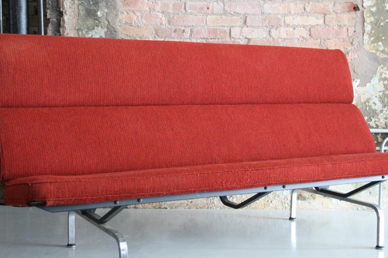 Enameled Sofa Compact by Ray and Charles Eames for Herman Miller For Sale
