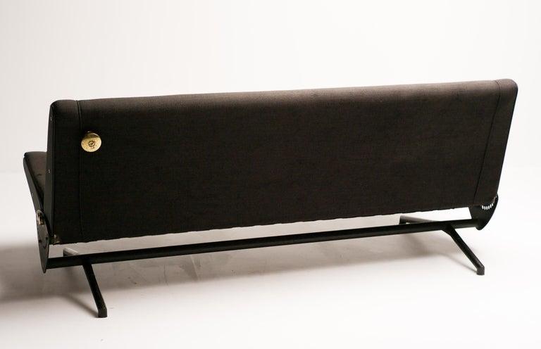 Brass Sofa Daybed D70 by Osvaldo Borsani for Tecno For Sale