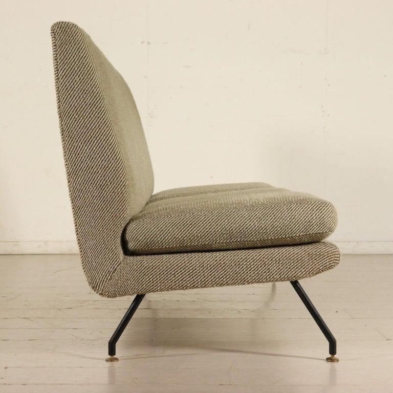 Sofa Designed for Isa Foam Fabric Metal Brass Vintage ...