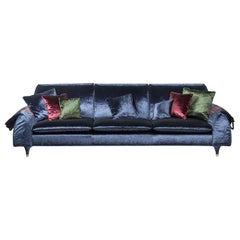 Sofa Eve Bag, with Hold-All Armrest, Sapphire Color, Italy