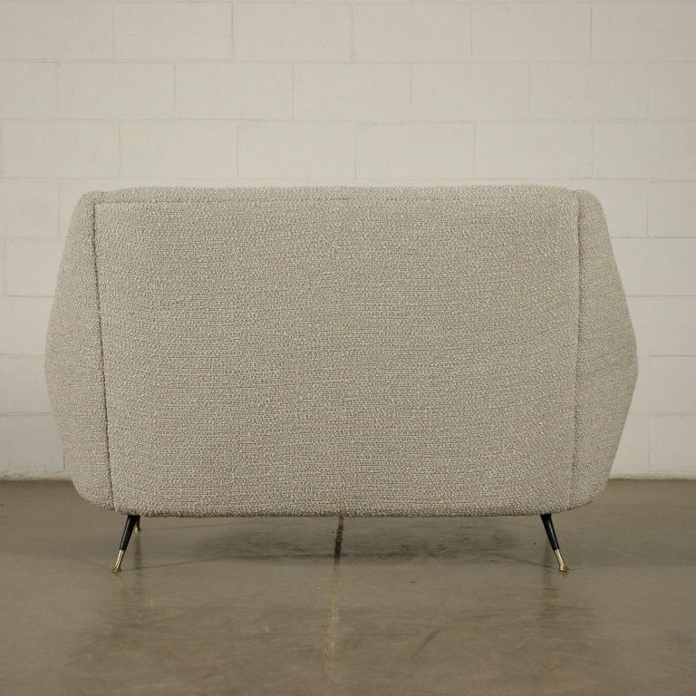 Sofa Foam Enameled Metal Brass Fabric, Italy, 1960s For Sale 4