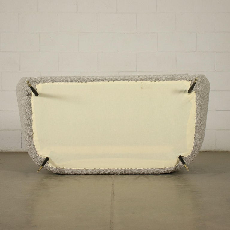 Sofa Foam Enameled Metal Brass Fabric, Italy, 1960s For Sale 5