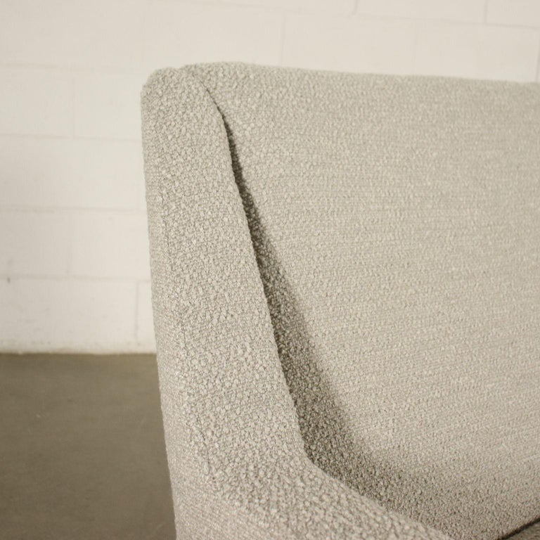 Italian Sofa Foam Enameled Metal Brass Fabric, Italy, 1960s For Sale