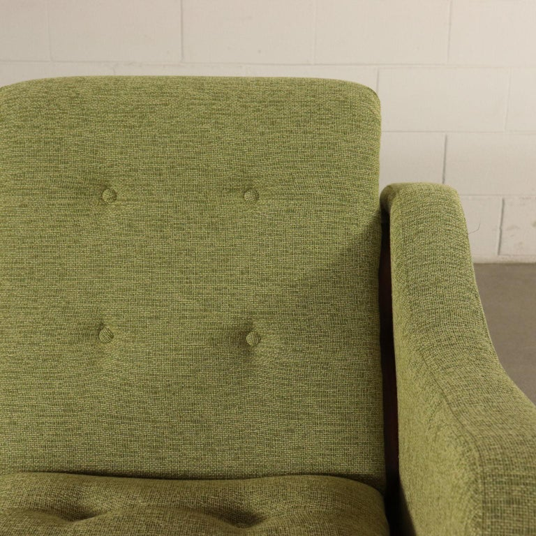 Other Sofa Foam Fabric and Brass Italy 1960s Italian Production For Sale