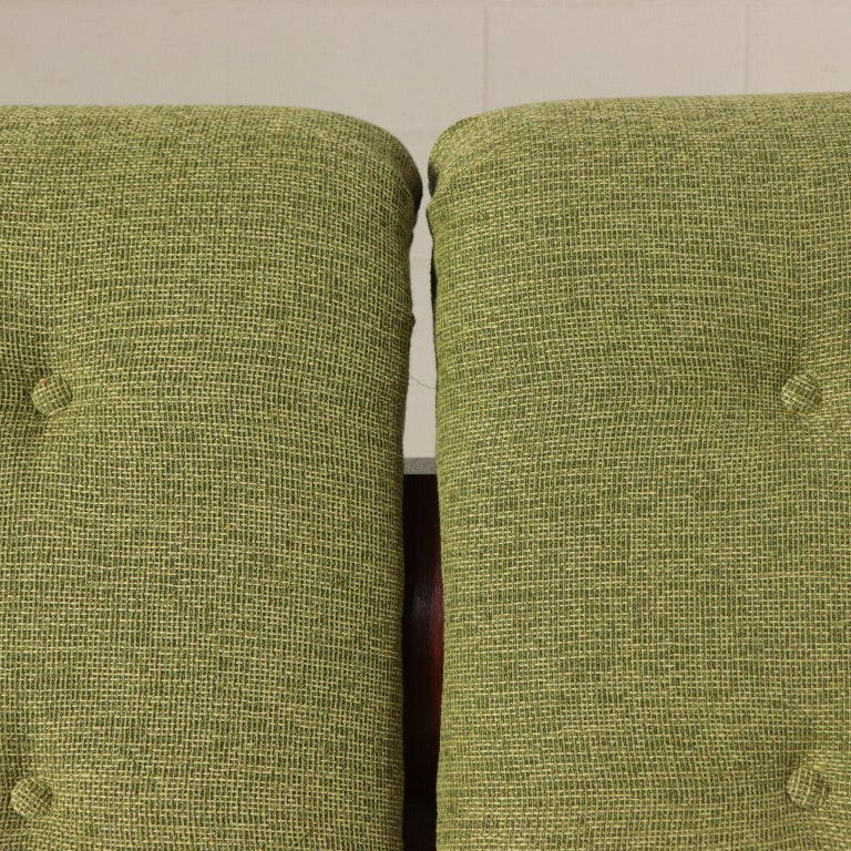 Mid-20th Century Sofa Foam Fabric and Brass Italy 1960s Italian Production For Sale
