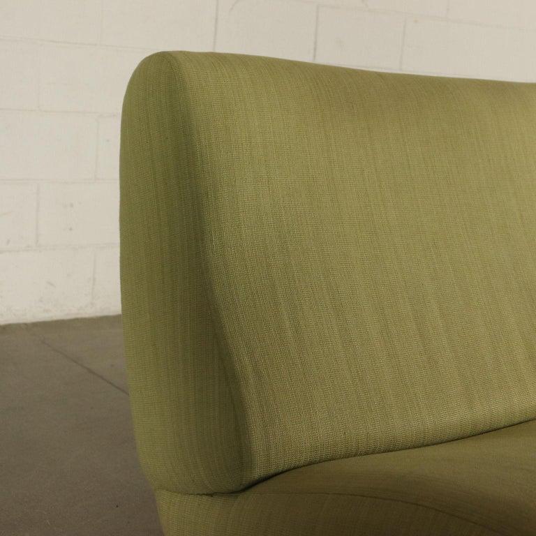 Italian Sofa Foam, Fabric and Brass Marco Zanuso, 1960s For Sale