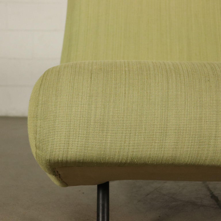 Other Sofa Foam, Fabric and Brass Marco Zanuso, 1960s For Sale