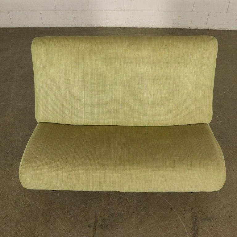 Mid-20th Century Sofa Foam, Fabric and Brass Marco Zanuso, 1960s For Sale