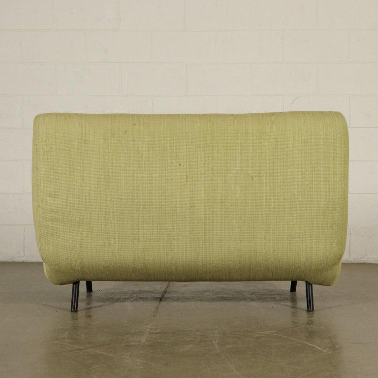 Sofa Foam, Fabric and Brass Marco Zanuso, 1960s For Sale 2