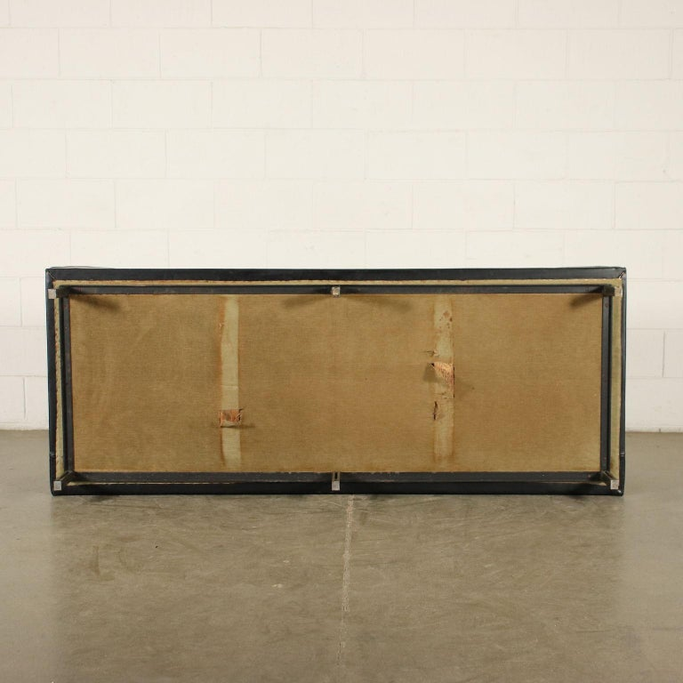 Sofa Foam Leatherette Chromed Metal, Italy, 1960s 5