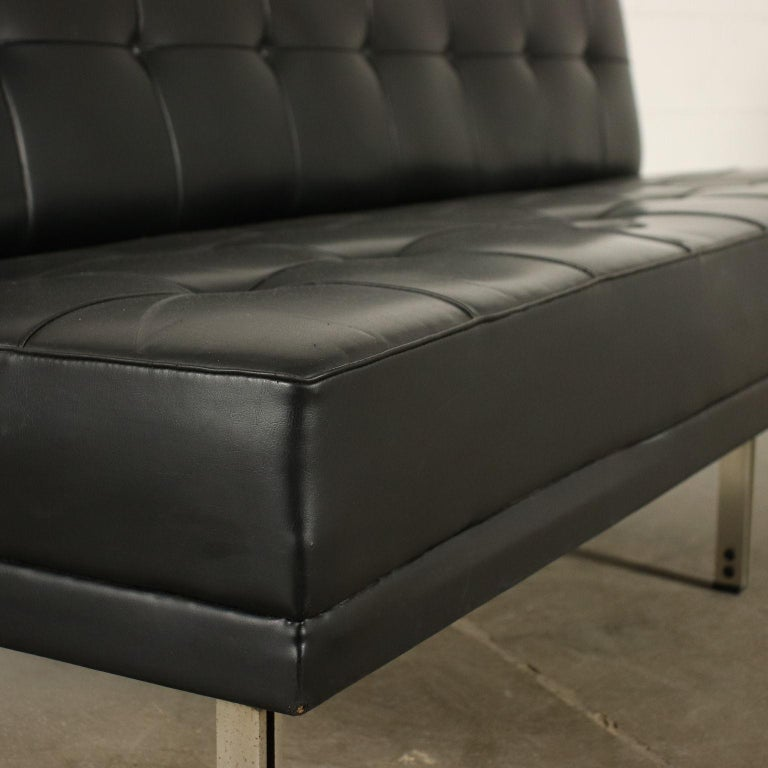 Other Sofa Foam Leatherette Chromed Metal, Italy, 1960s