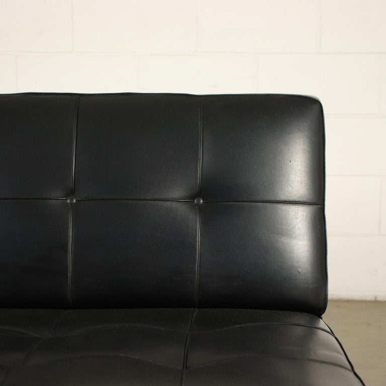 Sofa Foam Leatherette Chromed Metal, Italy, 1960s In Good Condition In Milano, IT
