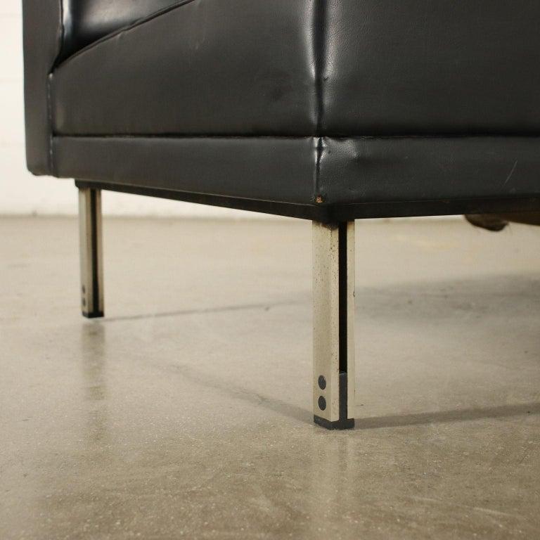 Sofa Foam Leatherette Chromed Metal, Italy, 1960s 1