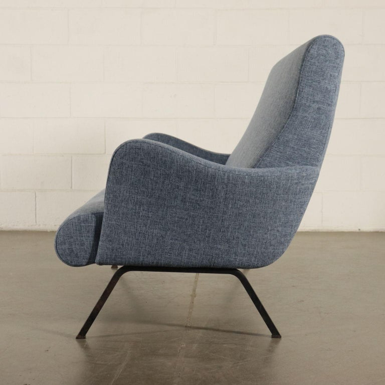 Sofa Foam Metallic Enameled Fabric Italy 1960s Italian Production For Sale 5