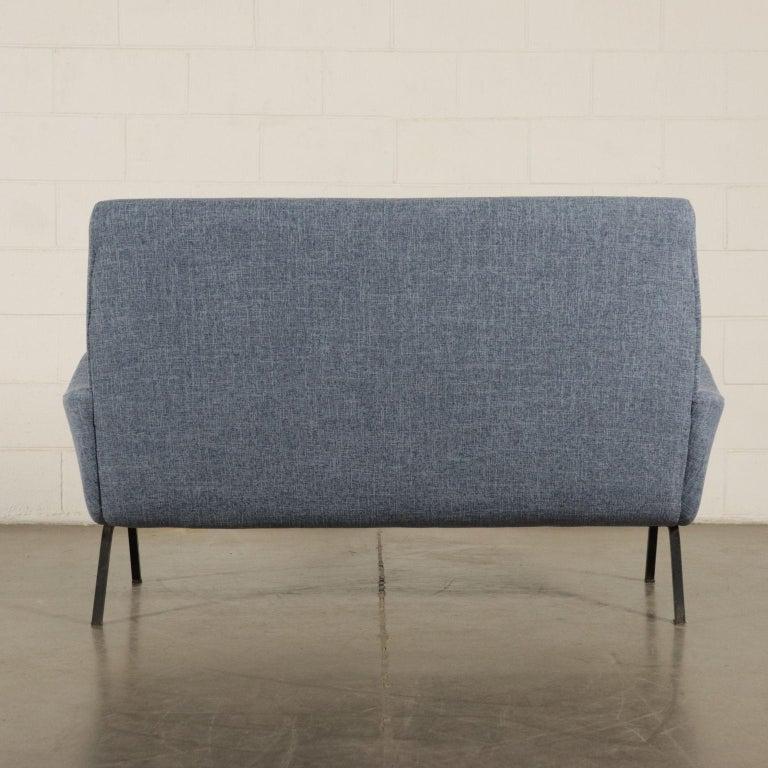 Sofa Foam Metallic Enameled Fabric Italy 1960s Italian Production For Sale 6