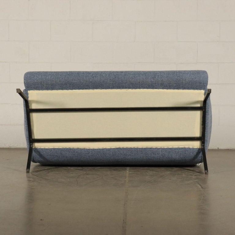 Sofa Foam Metallic Enameled Fabric Italy 1960s Italian Production For Sale 7