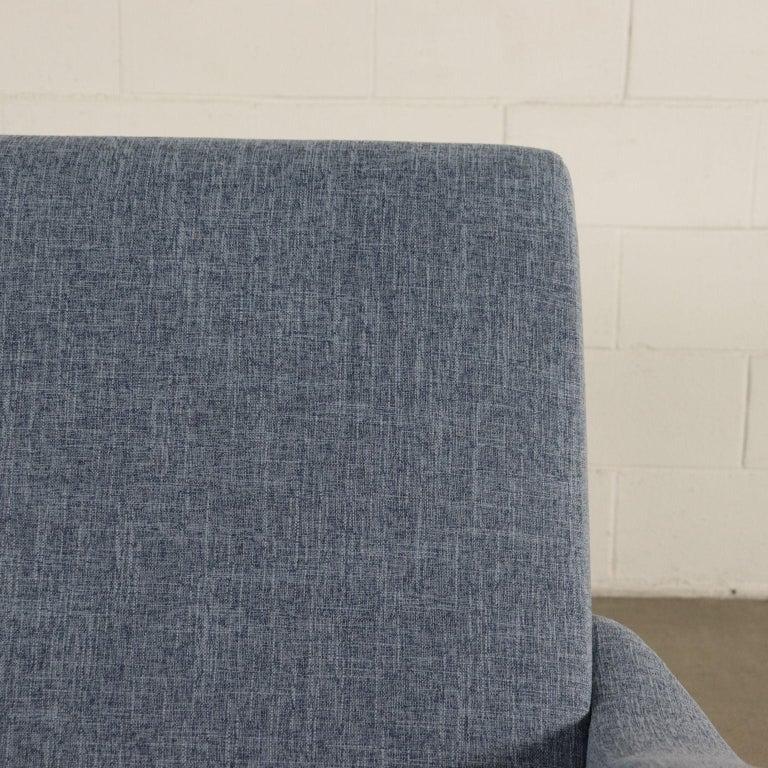 Mid-20th Century Sofa Foam Metallic Enameled Fabric Italy 1960s Italian Production For Sale