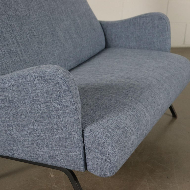 Sofa Foam Metallic Enameled Fabric Italy 1960s Italian Production For Sale 1