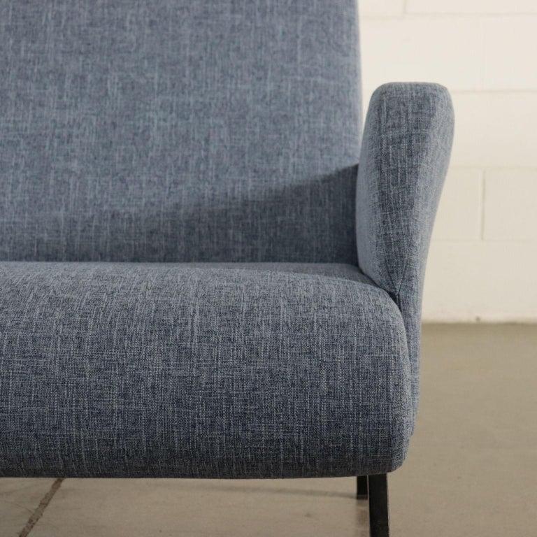 Sofa Foam Metallic Enameled Fabric Italy 1960s Italian Production For Sale 3