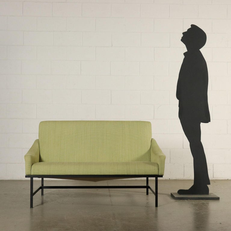 Sofa, foam padding, metal. Manufactured in Italy, 1950s-1960s.
