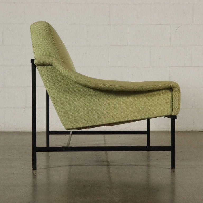 Mid-Century Modern Sofa Foam Padding Metal Vintage, Italy, 1950s-1960s For Sale