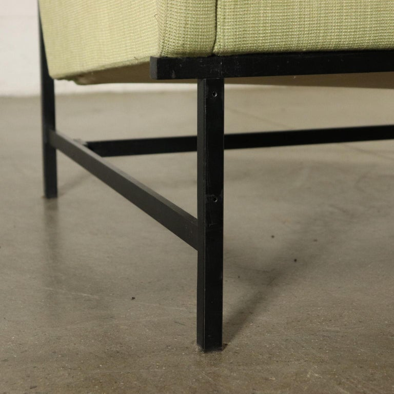 20th Century Sofa Foam Padding Metal Vintage, Italy, 1950s-1960s For Sale