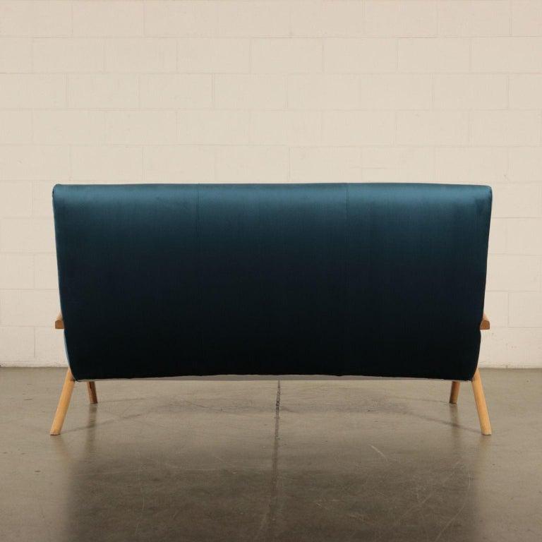 Sofa, Foam Velvet and Beech, Italy 1950s Italian Prodution For Sale 5