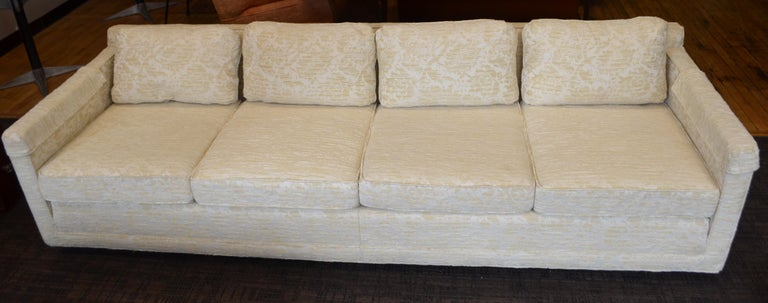 American Sofa from Flair Midcentury in Blended Cotton Felt For Sale