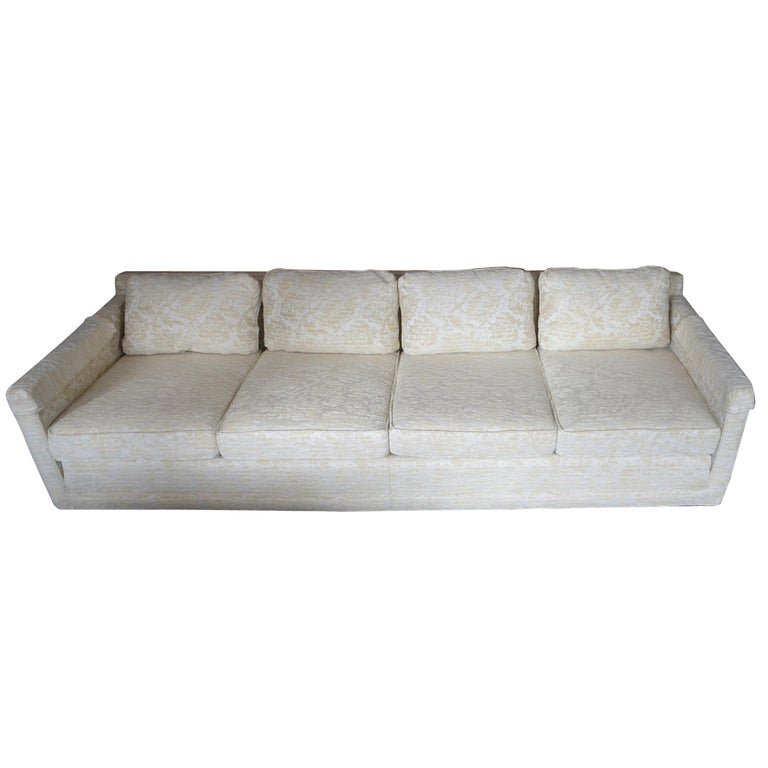 Sofa from Flair Midcentury in Blended Cotton Felt For Sale