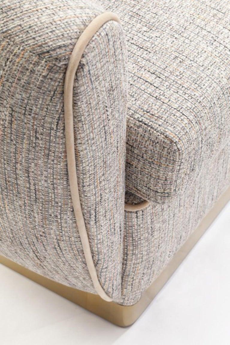 Sofa Grace 2-Sitzer Gepolstert aus Messing 3
