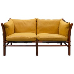 Sofa 'Illona' in Yellow Leather by Arne Norell, 1968