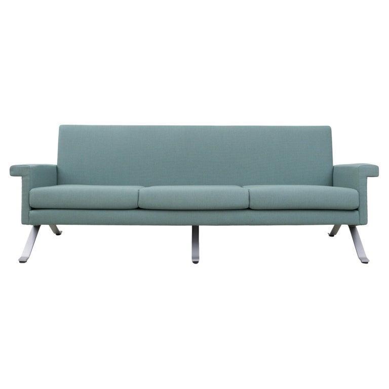 Sofa in Grey-Green, Model '875', Ico Parisi, 1960 For Sale