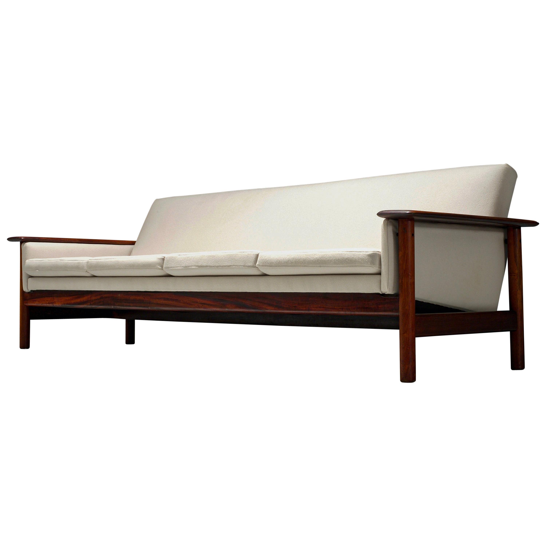 Sofa in Jacaranda and Fabric, Brazil, 1960s