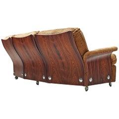 Sofa in Light Brown Corduroy