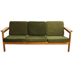 Sofa in Oak, Model J103 by Børge Mogensen for FDB, 1960s
