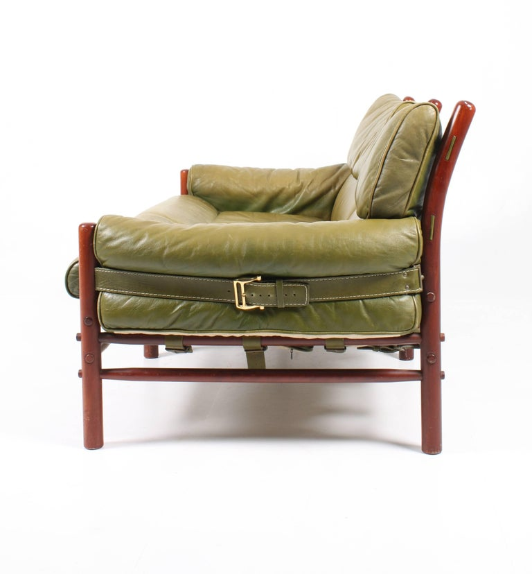 Sofa in Patinated Leather by Arne Norell For Sale 1